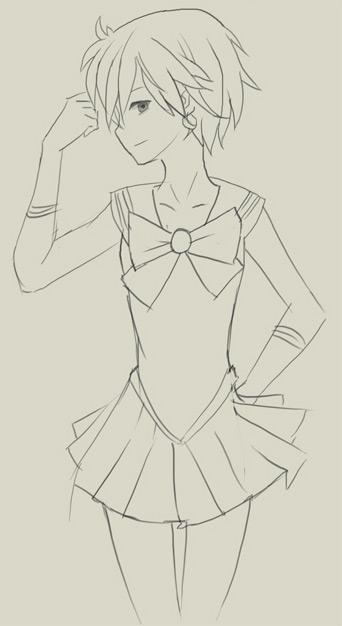 Как нарисовать аниме девушку стоящих