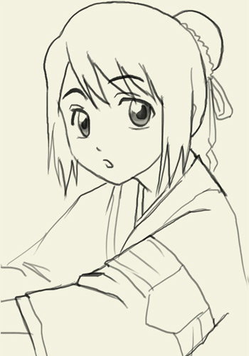 как рисовать аниме карандашом: