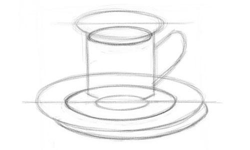Как нарисовать чашку