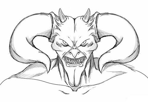 Как нарисовать дьявола