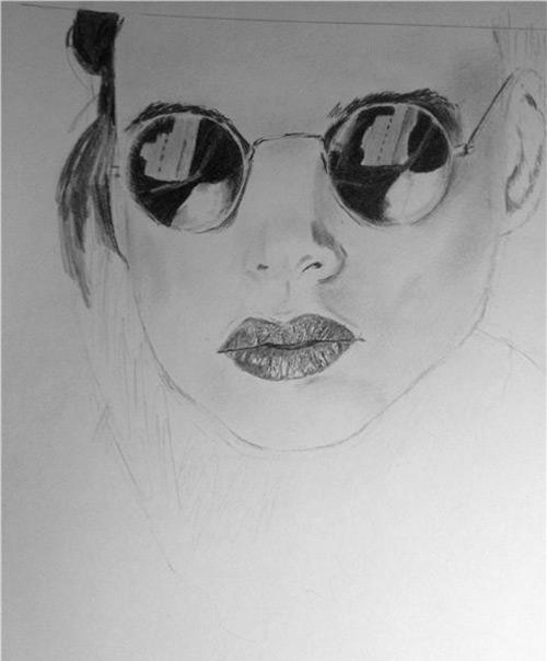 как рисовать рот карандашом: