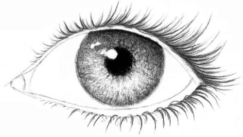 рисунки карандашом глаза: