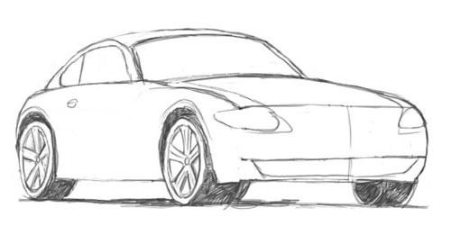 Скажем лишь...  Еще один вариант машины.  Как нарисовать машину.  Смотрите также и другие уроки по рисованию...
