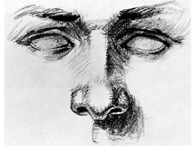 Как рисовать нос человека карандашом