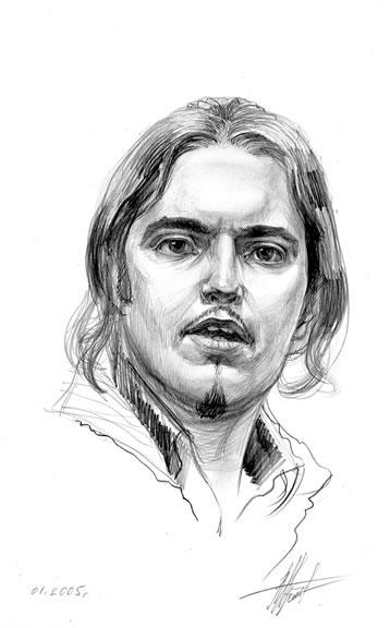 Портрет мужчины рисунок карандашом
