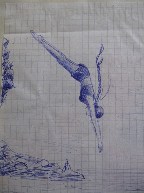 Рисунки ручками в тетради поэтапно для начинающих