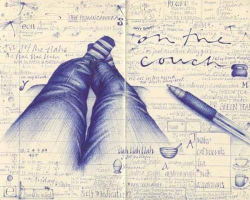 Рисунки нарисованные ручкой