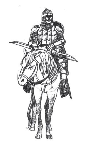 Как нарисовать воина карандашом