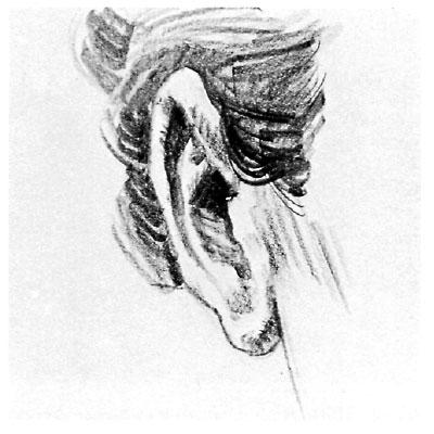 Как нарисовать ухо