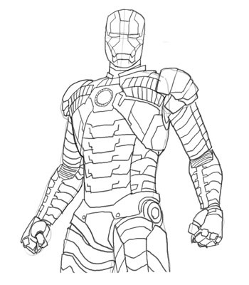 Iron Man Mark 1 Coloring Pages