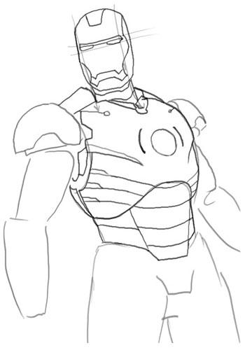 как рисовать железного человека: